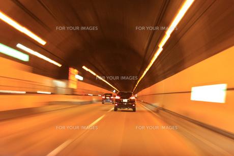 トンネル 高速撮影の写真素材 [FYI00061926]
