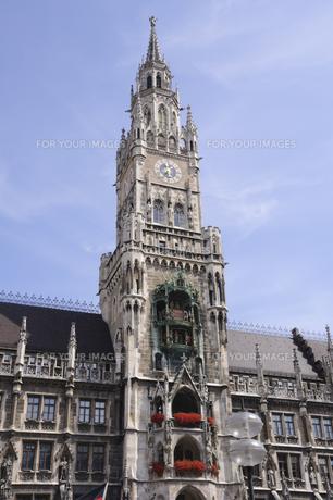 ドイツ ミュンヘン 新市庁舎の塔の写真素材 [FYI00062645]