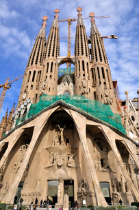 スペイン バルセロナ サグラダ・ファミリアの写真素材 [FYI00062978]