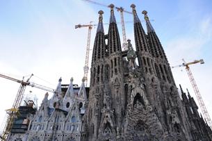 スペイン バルセロナ サグラダ・ファミリアの写真素材 [FYI00062984]