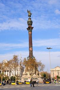 スペイン バルセロナ コロンブスの塔の写真素材 [FYI00062991]
