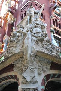 スペイン バルセロナ カタルーニャ音楽堂の写真素材 [FYI00062993]
