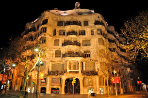 スペイン バルセロナ カサ・ミラの写真素材 [FYI00062997]