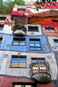 オーストリア ウィーン フンダートヴァッサーハウスの写真素材 [FYI00063054]