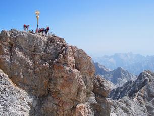 ドイツ ツークシュピッツェ山頂の写真素材 [FYI00063228]