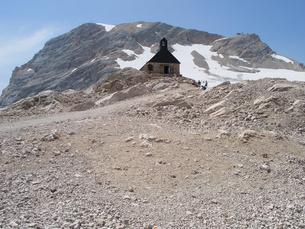 ドイツ ツークシュピッツェ山頂の写真素材 [FYI00063236]