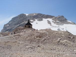 ドイツ ツークシュピッツェ山頂の写真素材 [FYI00063255]