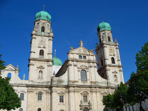 ドイツ パッサウ大聖堂の写真素材 [FYI00063284]