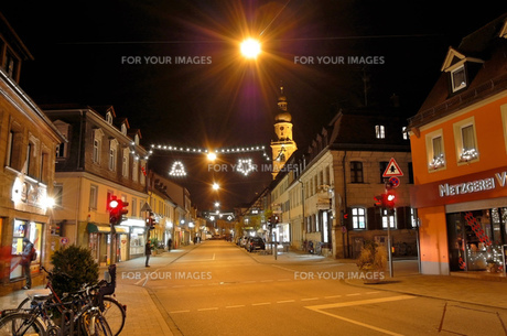 ドイツ エアランゲン クリスマスイルミネーションの素材 [FYI00063371]