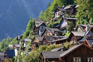 オーストリア ザルツカンマーグート ハルシュタットの町並みの素材 [FYI00064221]