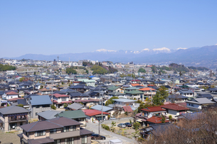飯田市街と南アルプスの素材 [FYI00064500]