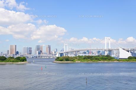 東京 お台場海浜公園からの眺めの素材 [FYI00064866]
