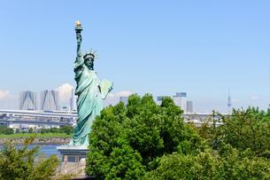 東京 自由の女神像とお台場海浜公園からの眺めの素材 [FYI00064890]