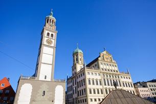 ドイツ アウクスブルク 市庁舎とペルラッハ塔の素材 [FYI00064922]