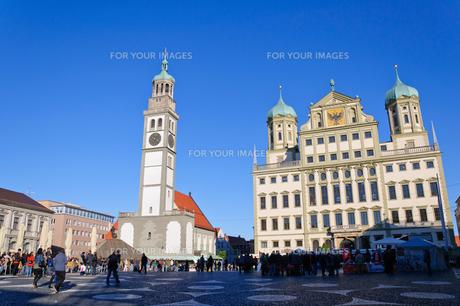 ドイツ アウクスブルク 市庁舎とペルラッハ塔の素材 [FYI00064923]