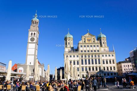 ドイツ アウクスブルク 市庁舎とペルラッハ塔の素材 [FYI00064945]