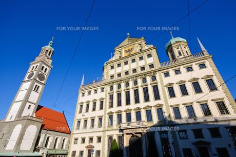 ドイツ アウクスブルク 市庁舎とペルラッハ塔の素材 [FYI00064947]
