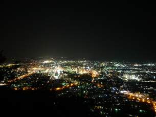 100万ドルの夜景 福島の写真素材 [FYI00065544]