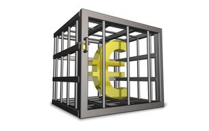 ユーロへの規制を表す3DCGイラストの写真素材 [FYI00068877]