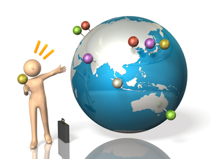 国際企業を描いた3DCGの写真素材 [FYI00068889]