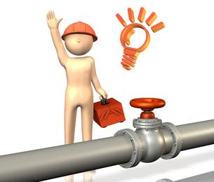 パイプラインで働くエンジニアの素材 [FYI00068891]