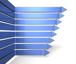 青い右向き矢印の写真素材 [FYI00068919]
