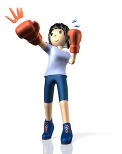 ボクシングでダイエットする女性の写真素材 [FYI00068934]