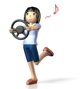ドライブを楽しむ女性(コンセプト)の写真素材 [FYI00068941]