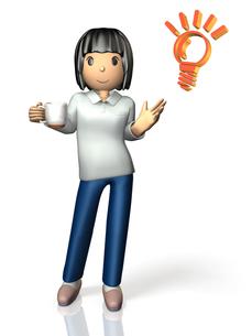 コーヒーブレイク中の女性の写真素材 [FYI00068954]