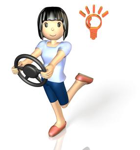 ドライブを楽しむ女性(コンセプト)の写真素材 [FYI00068963]
