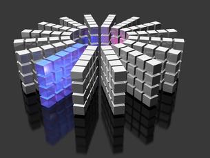 データベースを表すアブストラクト3DCGイラストの写真素材 [FYI00068966]