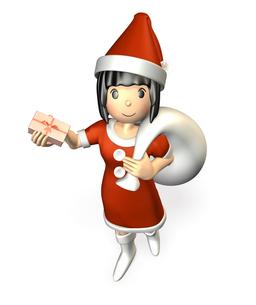クリスマスプレゼントを渡す女性の写真素材 [FYI00068982]