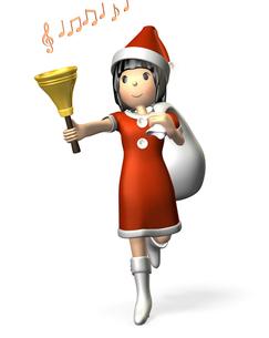 クリスマス衣装の女性(チャイム)の写真素材 [FYI00068986]