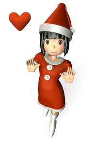 驚く女性(クリスマス)の写真素材 [FYI00068996]