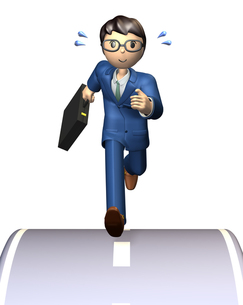 アクティブなビジネスマンの写真素材 [FYI00068997]