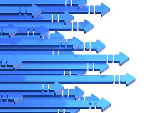 前進を表すアブストラクト3DCGの素材 [FYI00069049]
