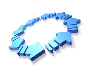 循環を表すアブストラクト3DCGの素材 [FYI00069067]