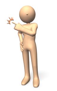 テーマを指し示すキャラクターの写真素材 [FYI00069115]