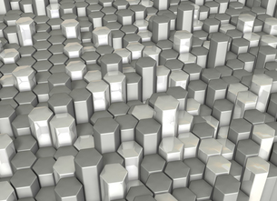 結晶構造を表すアブストラクト3DCGイラストの写真素材 [FYI00069166]