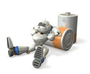電池切れのロボットの写真素材 [FYI00069168]