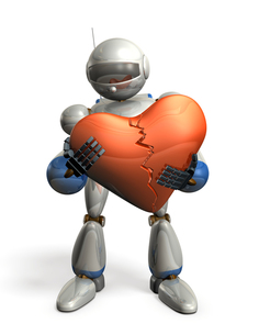 失意のロボットの写真素材 [FYI00069172]