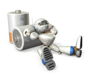 電池切れのロボットの写真素材 [FYI00069173]