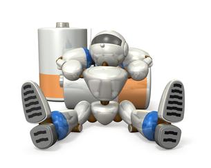 電池切れのロボットの写真素材 [FYI00069174]