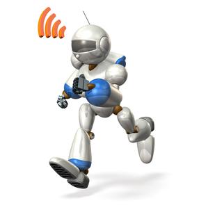 走るロボットの写真素材 [FYI00069176]