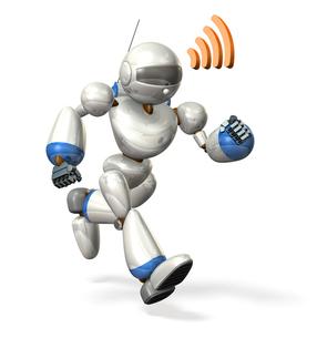 走るロボットの写真素材 [FYI00069179]