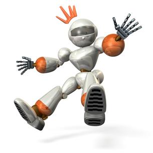 驚くロボットの写真素材 [FYI00069201]