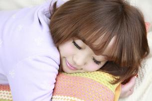 かわいい寝顔の写真素材 [FYI00069461]