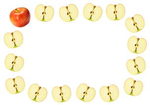 リンゴのフレームの写真素材 [FYI00070273]