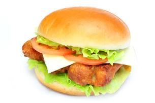 チキンバーガーの写真素材 [FYI00070402]