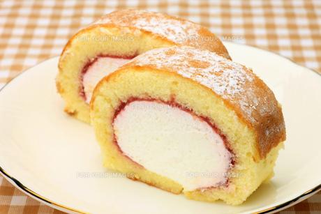 ロールケーキの写真素材 [FYI00071277]
